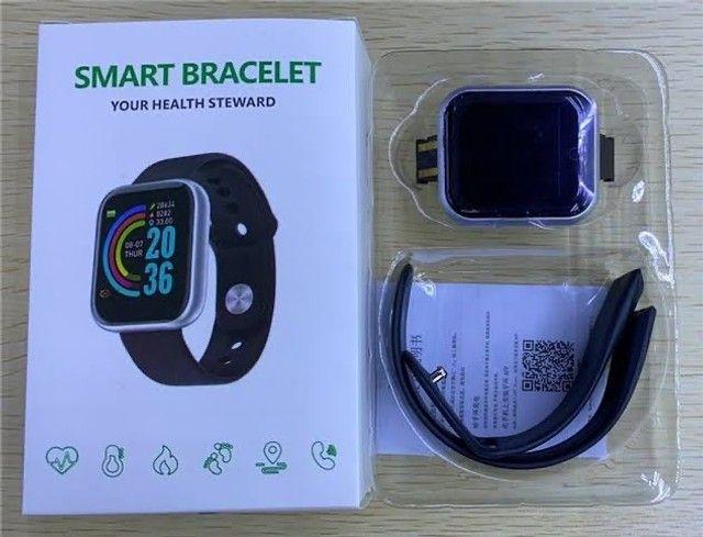 Relogio Smartwatch Y68 D20 Android Ios Rosa - Foto 4