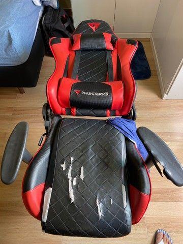 Cadeira Gamer ThunderRx3 - marcas de uso - Foto 4