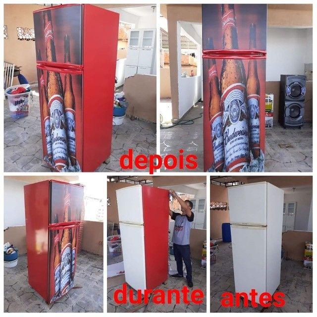 Envelopamento de geladeira - Foto 6