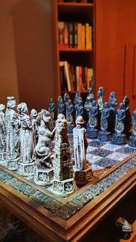 Jogo de Xadrez Antiguidade 70 anos  - Foto 2