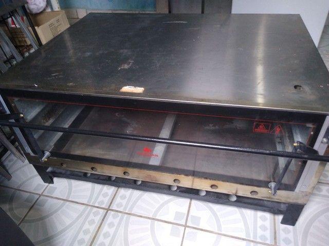 Mesa de inox duplex Brastemp Frost Free e um forno progas semi-novo - Foto 2