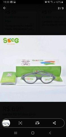 Óculos Armação Infantil Bebê Flexível Cordão Silicone 0 A 3