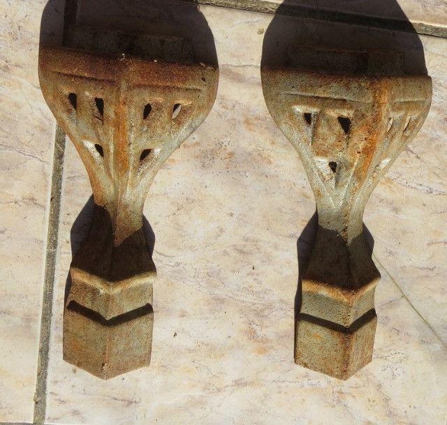 Antigos pés de fogão a lenha para fazer moveis rusticos - Foto 2