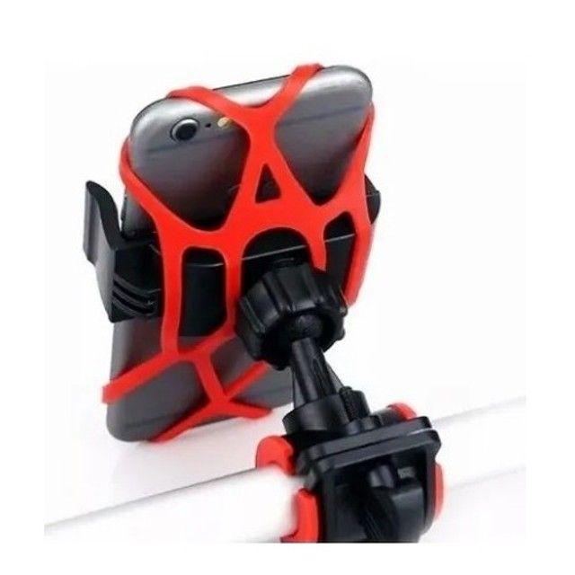 Suporte Universal De Moto E Bike De Silicone 360 Tomate - Foto 3