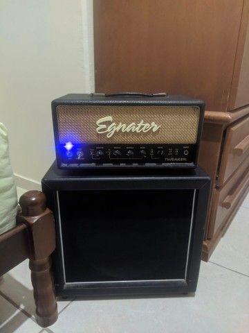 Amplificador Valvulado Egnater Tweaker + caixa 1x12 alto falante Eminence - Foto 4