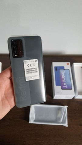 Redmi 9T 64 GB Bateria 6000 mAh Cinza/Azul  - Foto 5