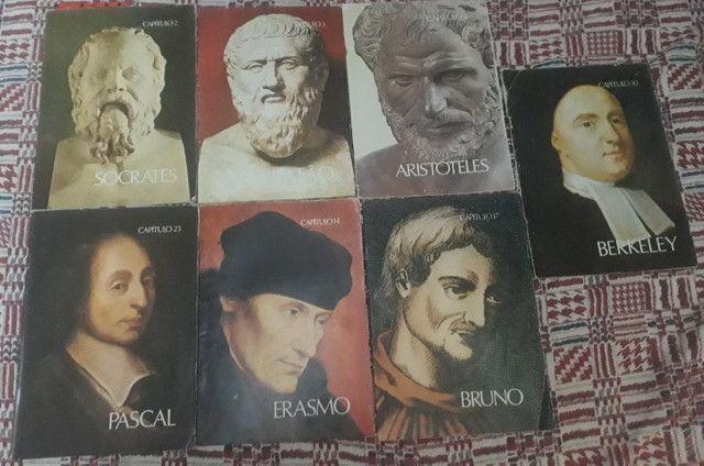 Auguste Conte ( 2 exemplares) + Os Pensadores (Fascículos) - Foto 5