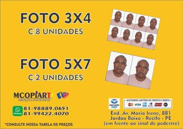 Foto 3x4 e 5X7 (Grafica Rápida Mcopirate Serviços e Importados)