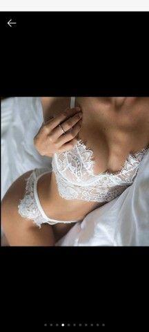 Sexy GrilConjunto de Lingerie / Sutiã de Renda com Franja Fina Confortável Erótica   - Foto 4