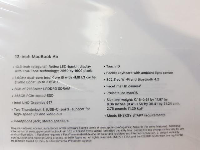 Macbook Air 13 retina i5 8gb de ram 256 ssd - NOVO na caixa- Modelo 2019 - Foto 2