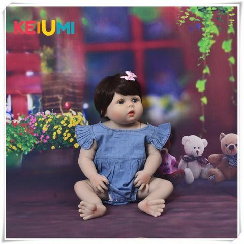 Bebê Reborn Boneca Realista Corpo De Silicone 57 Cm Menina Frete Grátis - Foto 6