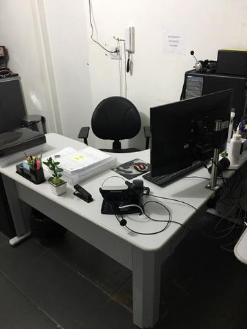 Mesa para Escritório em L Angular Pé Metalico 135cmx135cm - Foto 3