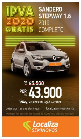 RENAULT SANDERO 2018/2019 1.6 16V SCE FLEX STEPWAY EXPRESSION MANUAL