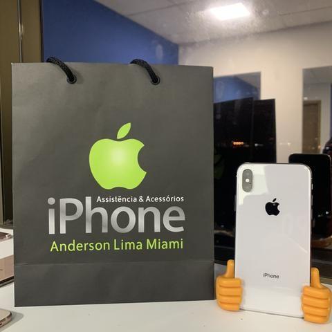 IPhone X 64gb branco, somos loja, aceito seu iPhone usado como parte do pagamento