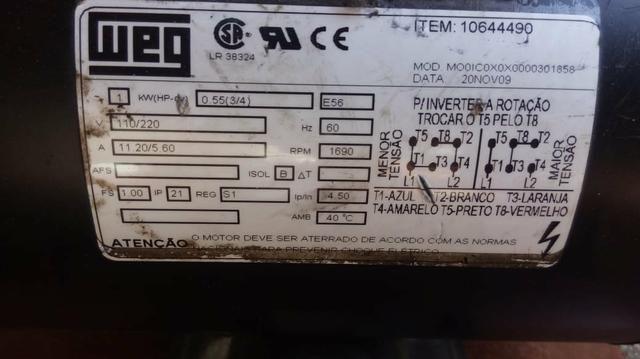 Motor WEG 127/220 - Foto 4