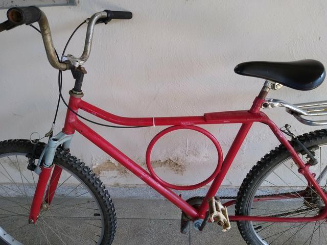 "Bicicleta barra forte ,26"" - Foto 3"