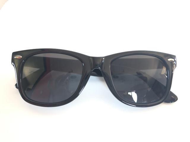 Óculos De Sol Preto. Unissex. Armação Em Acetato com Detalhe Étnico - Foto 3