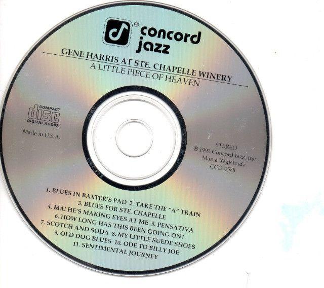 Cd- Jazz- The Gene Harris Quartet - A Little Piece Of Heaven - Foto 3