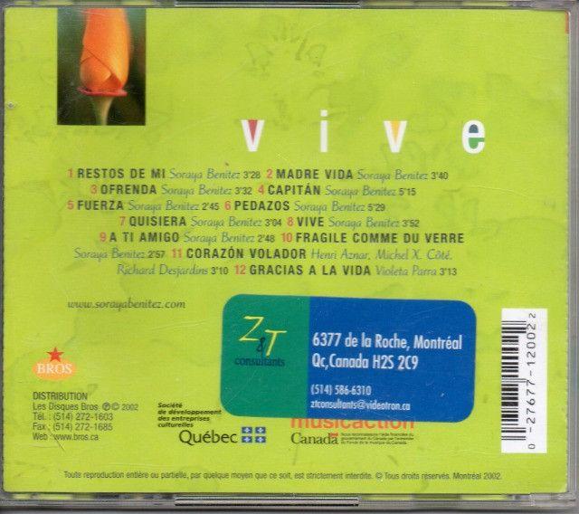 Cd Jazz - Soraya Benitez - Vive - Foto 2