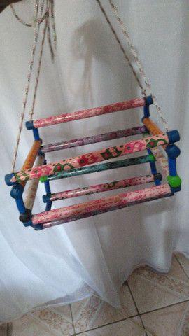 Cadeirinha de balanço ótimo presente para criançada - Foto 4