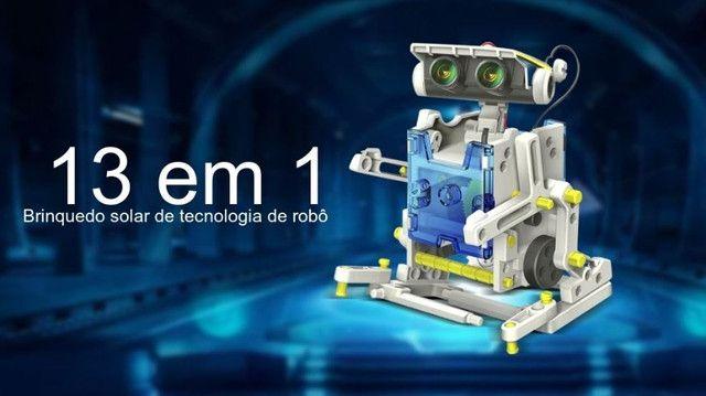 Kit Educacional Montagem Robô Solar 13 em 1