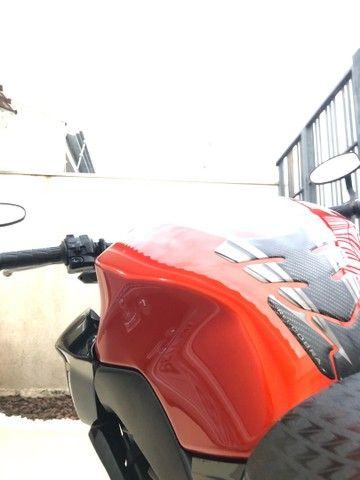 Tanque de combustível Kawazaki z300 laranja 2016 - Foto 11