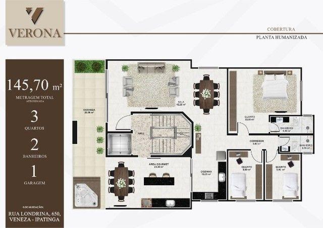 Cob. B. Veneza, 03 quartos suíte, Sac. Gourmet, Elevador 146 m². Valor 480 mil - Foto 13