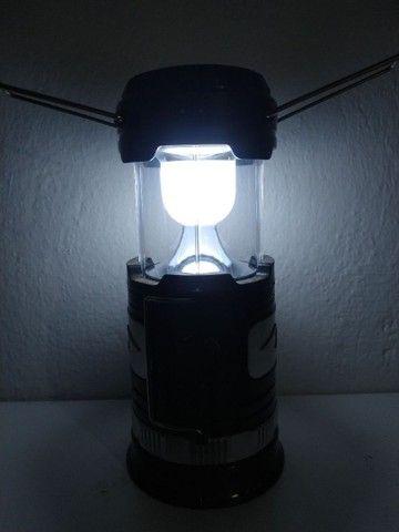 Lampião led USB multi funções. - Foto 3