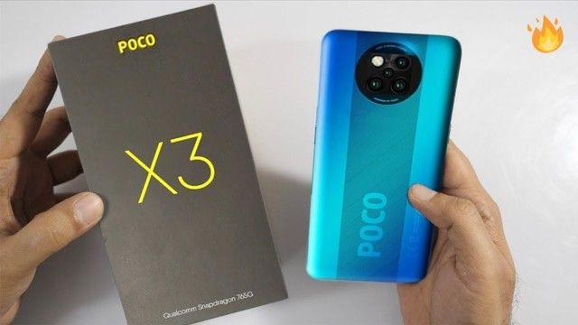 Poco X3 128 GB/6 GB Ram  Azul Enquanto Durar em Estoque - Foto 4