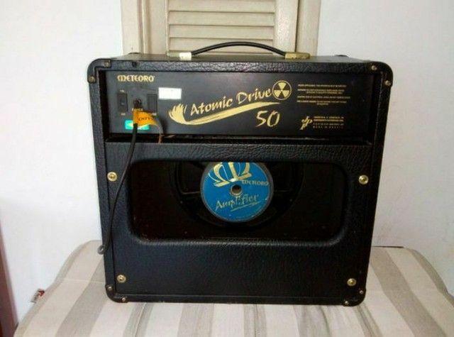 Vende-se Violão Elétrico Takamine c/ Afinador e Amplificadora Meteoro Atomic Drive 50 - Foto 6