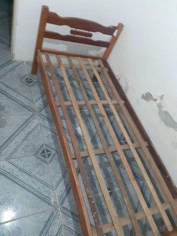 Cama de solteiro madeira - Foto 2