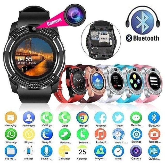 Relógio V8 Black Version Smart Conexão ao Celular - Foto 6