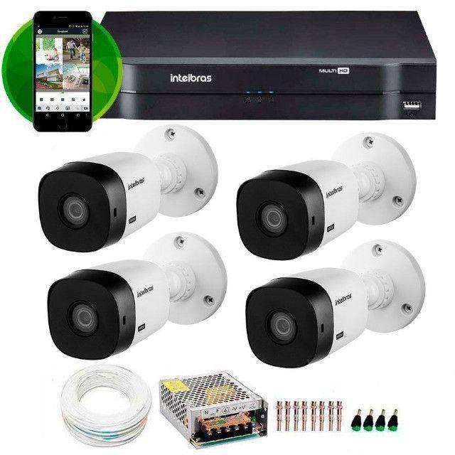 Kit Intelbras 4 Câmeras HD 720p VHL 1120 B + DVR 1004 Intelbras + Acessóriosa - Foto 4
