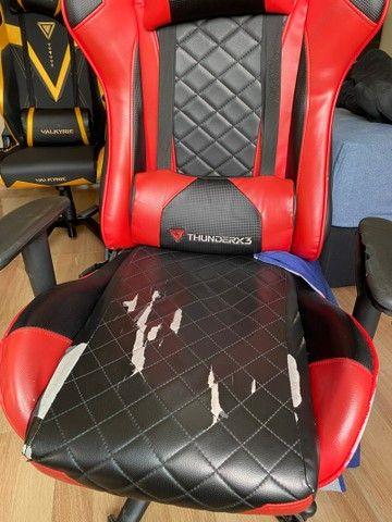 Cadeira Gamer ThunderRx3 - marcas de uso - Foto 3