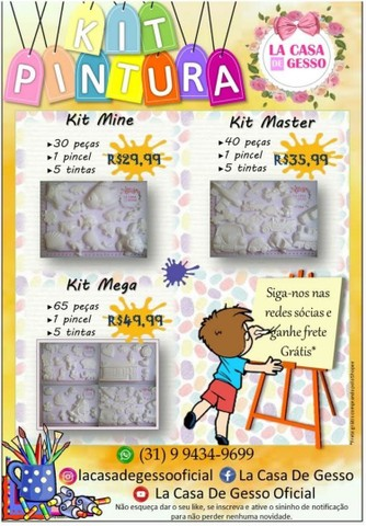 Kit Pintura Infantil - 80 peças - Entregamos - Foto 5