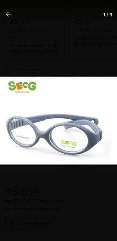 Óculos Armação Infantil Bebê Flexível Cordão Silicone 0 A 3 - Foto 2