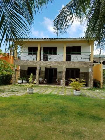 Casa beira-mar 5 quartos (3 suites) com varanda, piscina e churrasqueira