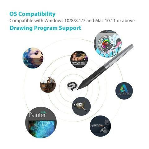 Huion H610 Pro V2 - Tablet Gráfico Profissional - Foto 6