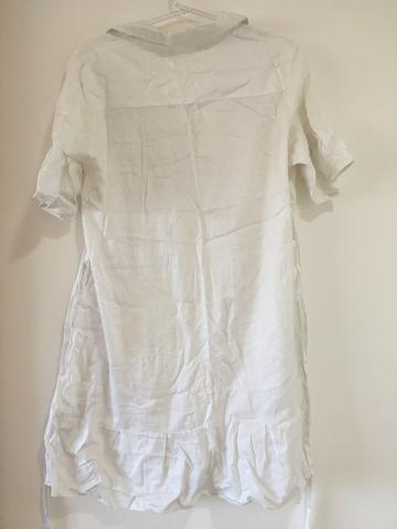 Vestido branco tam P/ serve M $15