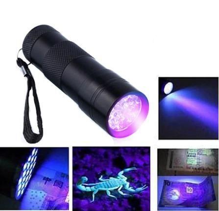 Lanterna de Luz UV - Identifique cédulas falsas - documento falsos e etc