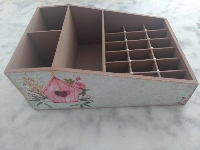 Porta Maquiagem (Caixa Personalizada de MDF) - Foto 4