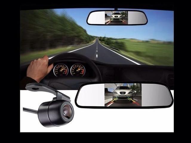Espelho retrovisor com tela lcd 4,3 + câmera de ré universal,novos