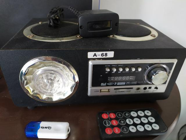 Caixa de som fm mp3 sd usb com adaptador Bluetooth