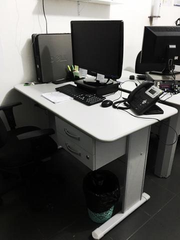 Duas Mesas para Escritório 120cmx60cm Cinza - Foto 2