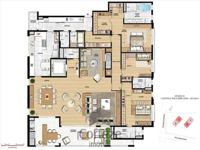 Apartamento com 4 suítes no Juvevê - Foto 11