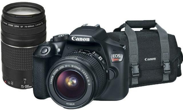 Câmera Canon EOS Rebel T6 com 2 Lentes: 18-55mm + 75-300mm