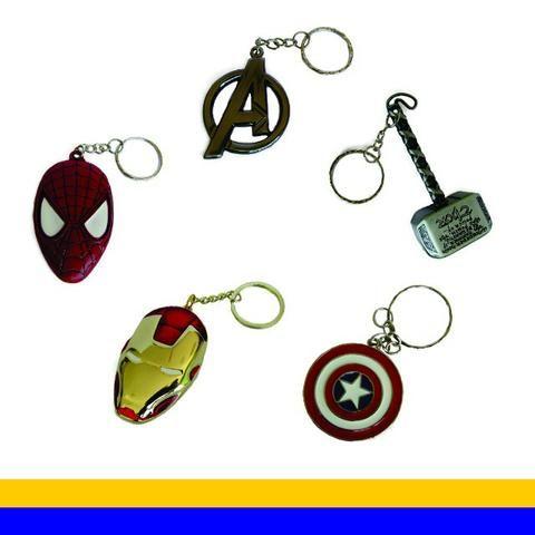 Kit 05 Chaveiros Geek - Coleção Heróis Marvel - Hobbies e coleções ... d2b88aa7f0