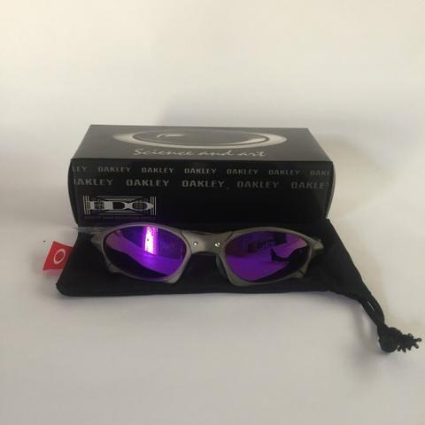152158f19 Óculos oakley juliet x metal lente roxas violetas polarizadas + case rigido  u.s.a