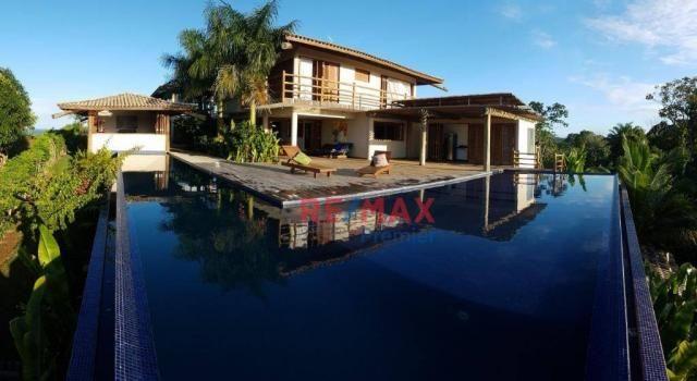 Casa com 7 dormitórios à venda por r$ 2.000.000 - villas de são josé - itacaré/ba