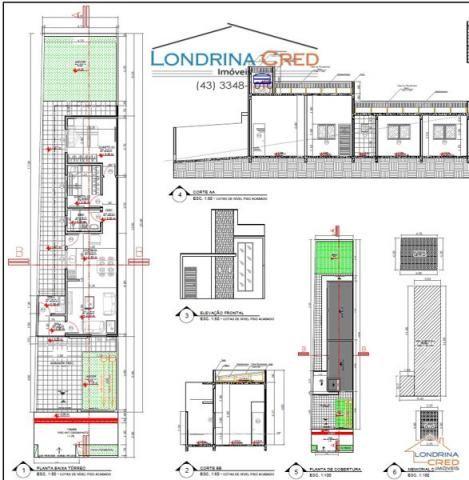 Casa geminada com 2 quartos - Bairro Colinas em Londrina